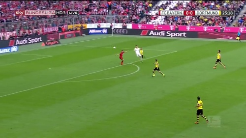 Thomas Müller – 1st goal – Bayern v Dortmund 3