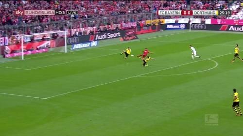 Thomas Müller – 1st goal – Bayern v Dortmund 4