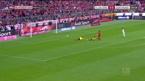 Thomas Müller – 1st goal – Bayern v Dortmund 5