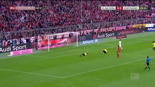 Thomas Müller – 1st goal – Bayern v Dortmund 6