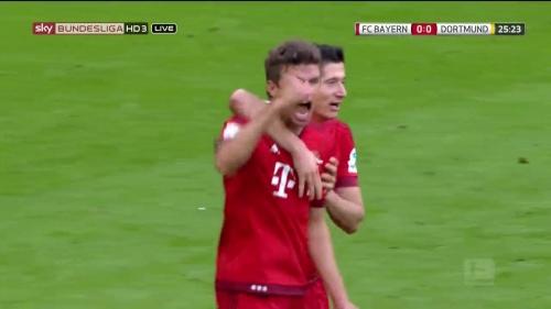 Thomas Müller – 1st goal – Bayern v Dortmund 7