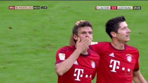 Thomas Müller – 1st goal – Bayern v Dortmund 9