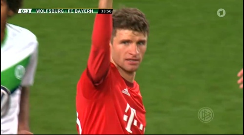 Thomas Müller – Wolfsburg v Bayern (DFB Pokal 15-16) 1