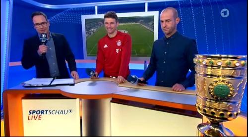 Thomas Müller – Wolfsburg v Bayern (DFB Pokal 15-16) interview 1