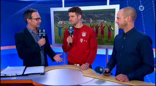 Thomas Müller – Wolfsburg v Bayern (DFB Pokal 15-16) interview 2