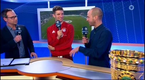 Thomas Müller – Wolfsburg v Bayern (DFB Pokal 15-16) interview 3