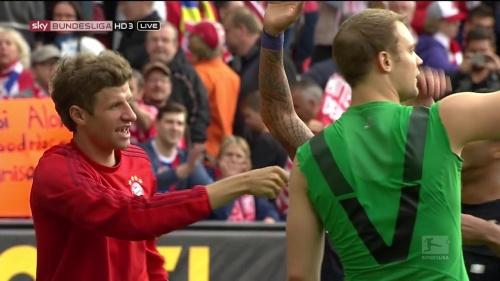 Thomas Müller & Manuel Neuer – Mainz v Bayern 2