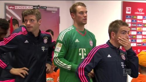 Thomas Müller, Manuel Neuer & Philipp Lahm – Mainz v Bayern 1