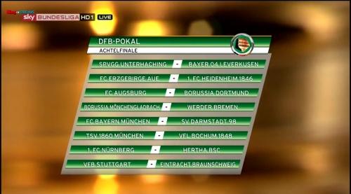 DFB Pokal Last 16 draw - 2015-16
