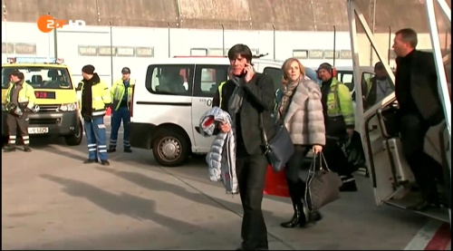 Joachim Löw - arrival in Frankfurt