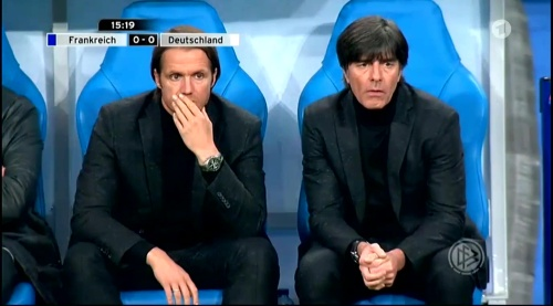 Joachim Löw – France v Germany – 1st half 10