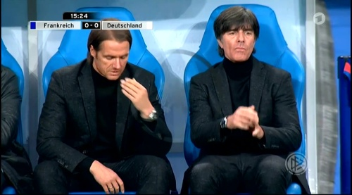 Joachim Löw – France v Germany – 1st half 13