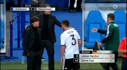 Joachim Löw – France v Germany – 1st half 14