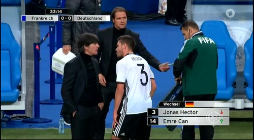 Joachim Löw – France v Germany – 1st half 15
