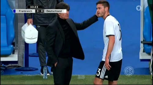 Joachim Löw – France v Germany – 1st half 16