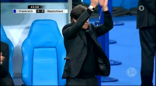 Joachim Löw – France v Germany – 1st half 19