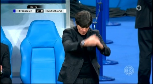 Joachim Löw – France v Germany – 1st half 20
