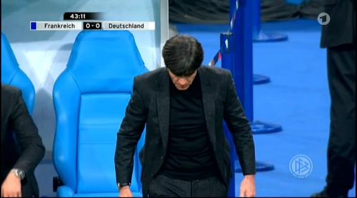 Joachim Löw – France v Germany – 1st half 21
