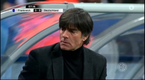 Joachim Löw – France v Germany – 1st half 3
