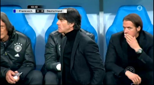 Joachim Löw – France v Germany – 1st half 5