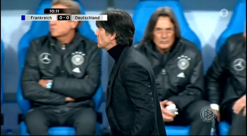 Joachim Löw – France v Germany – 1st half 6