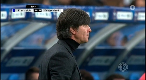 Joachim Löw – France v Germany – 1st half 8