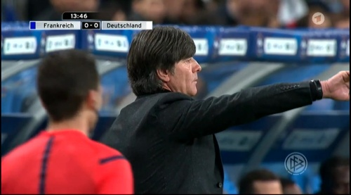 Joachim Löw – France v Germany – 1st half 9