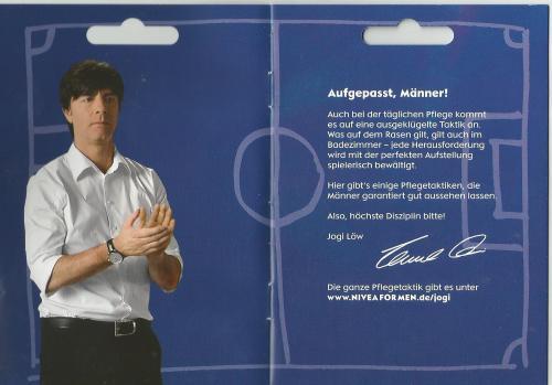 Joachim Löw - Nivea booklet 2