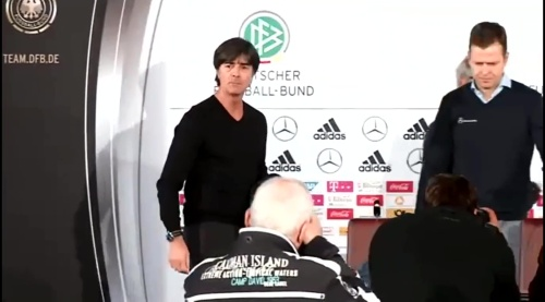 Joachim Löw & Oliver Bierhoff – press conference – DEU-NED 1