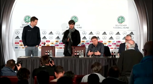 Joachim Löw & Oliver Bierhoff – press conference – DEU-NED 6