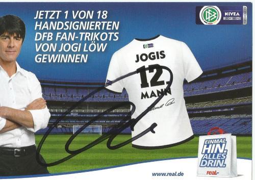 Joachim Löw signed Nivea card