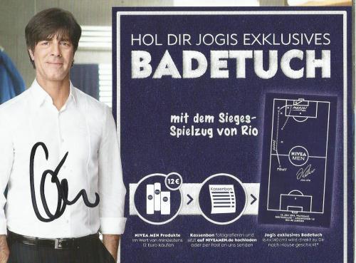 Joachim Löw - signed Nivea envelope