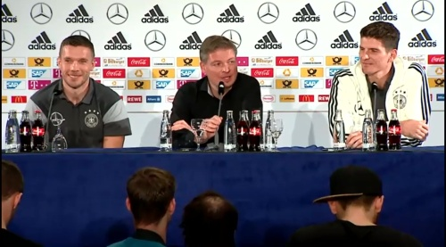 Lukas Podolski & Mario Gomez - Press conference 1
