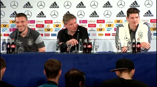 Lukas Podolski & Mario Gomez - Press conference 2