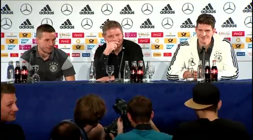 Lukas Podolski & Mario Gomez - Press conference 3