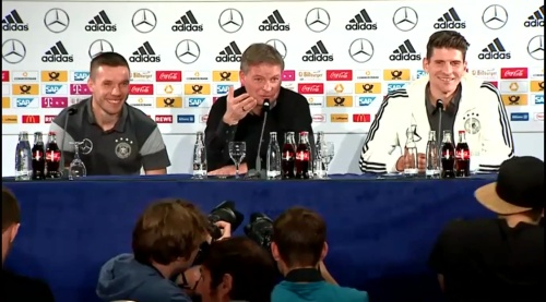 Lukas Podolski & Mario Gomez - Press conference 4