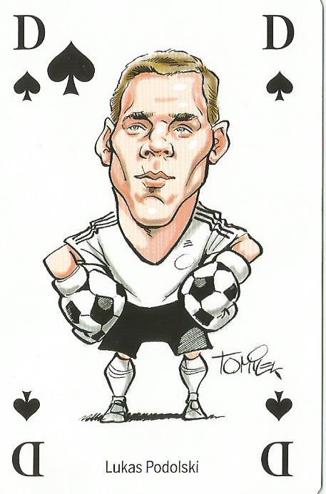 Lukas Podolski - playing card