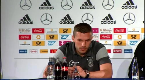 Lukas Podolski - Press conference 1