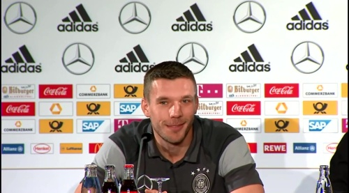 Lukas Podolski - Press conference 2