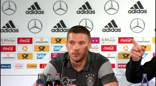 Lukas Podolski - Press conference 3