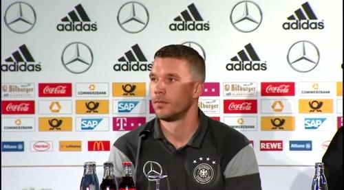 Lukas Podolski - Press conference 4