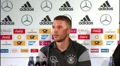 Lukas Podolski - Press conference 4