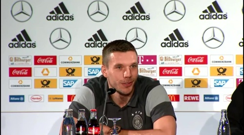 Lukas Podolski - Press Conference 8