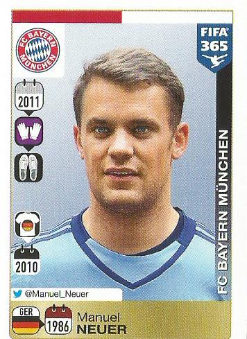 Manuel Neuer - FIFA 365 sticker