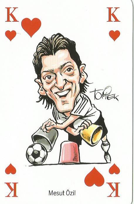 Mesut Özil - playing card