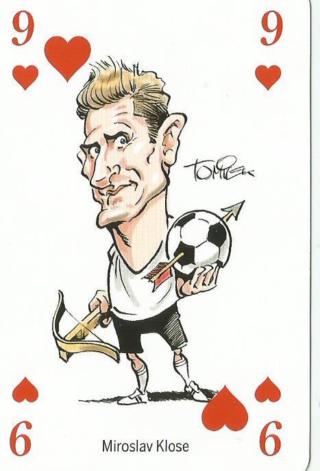 Miroslav Klose - playing card