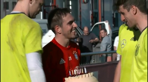 Philipp Lahm & Thomas Müller – Training in München 2