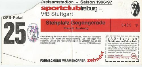 SC Freiburg v VfB Stuttgart - DFB Pokal - 1996-97