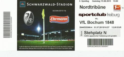 SC Freiburg v VfL Bochum - 2015-16 ticket