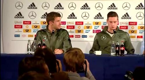 Thomas Müller & Julian Draxler – Press Conference 1